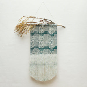 Medium Wave Wall Hanging in Green
