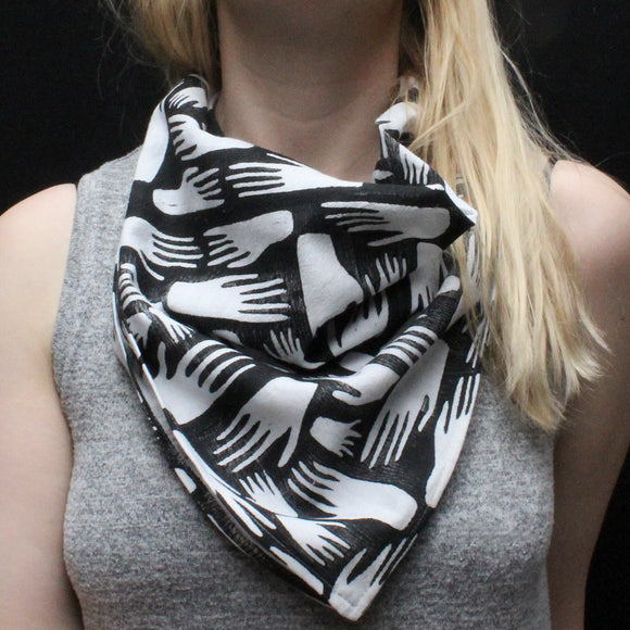 Hands Block Print Bandana