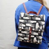 Hands Block Print Small Backpack