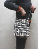 Hands Screen Print Cross Body Tote Bag