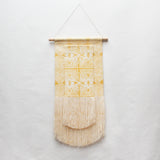 Layered Evil Eye and Scallop Wall Hanging in Yellow