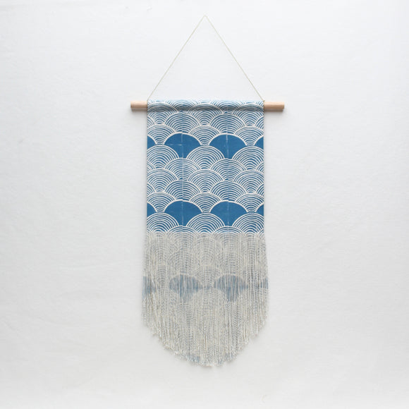 Medium Scallop Wall Hanging in Blue
