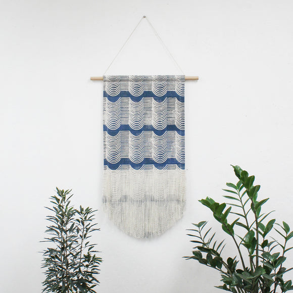 Medium/Large Wave Wall Hanging in Blue