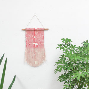 Small Con Geo Wall Hanging in Pink