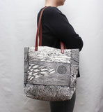 Patchwork Block Print Tote Bag