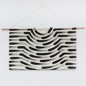 Painted Stripe Faux Headboard Wall Hanging