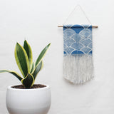 Small Scallop Wall Hanging in Blue