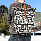 Hands Screen Printed Large Backpack