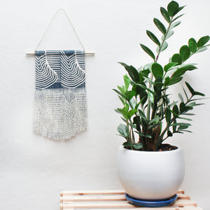 Small Flood Wall Hanging in Blue