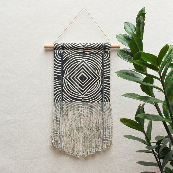 Small Sol Wall Hanging in Black