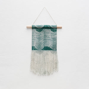 Small Wave Wall Hanging in Green