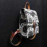 Snake Block Print Small Backpack