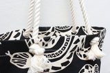Snake Screen Print Rope Tote Bag