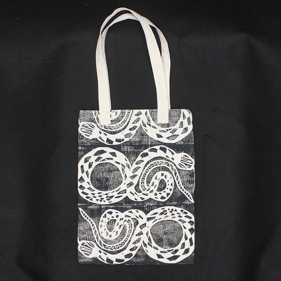 Snake Block Print Soft Tote