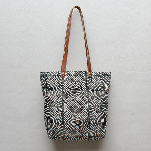 Sol Block Print Tote Bag