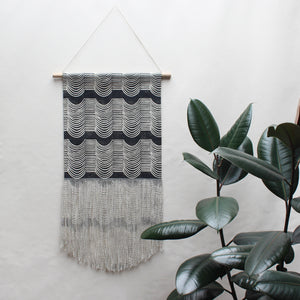 Medium/Large Wave Wall Hanging in Black