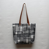 Layered Rec Block Print Tote Bag