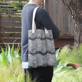 Wave Block Print Soft Tote