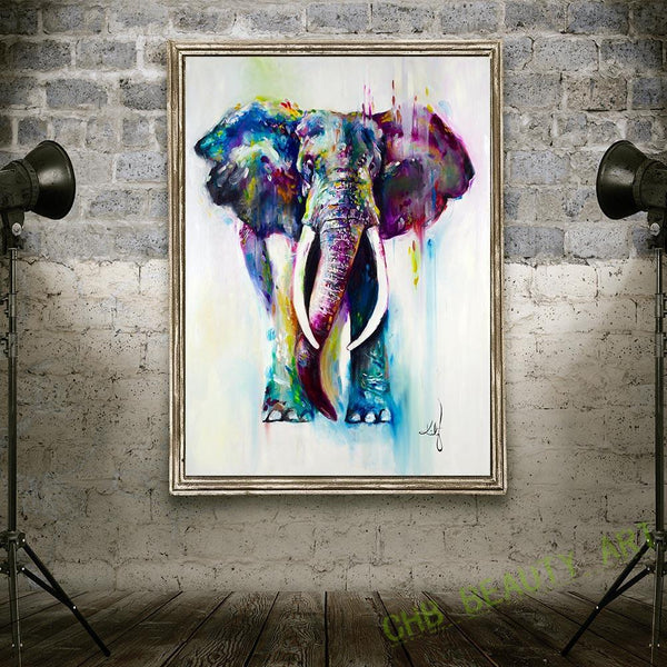 Unframed Elephant Wall Art Painting
