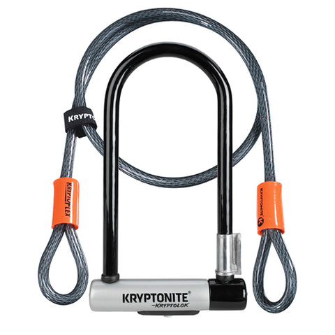 Kryptonite Standard U-Lock w/ 4' Flex Cable - Westridge Outdoors