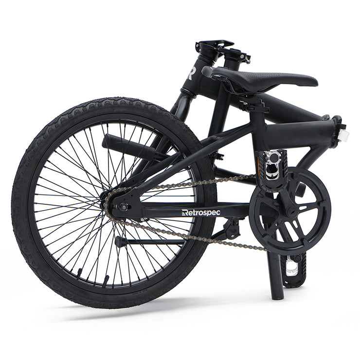 Retrospec Speck Folding Bike, 1-Speed | Matte Black