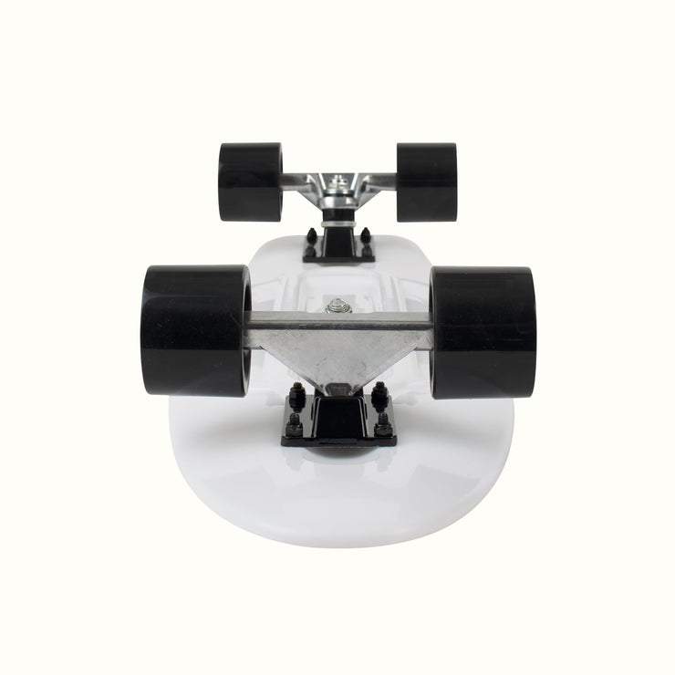 QUIP Cruiser 27 inch Complete Skateboard | White and Black