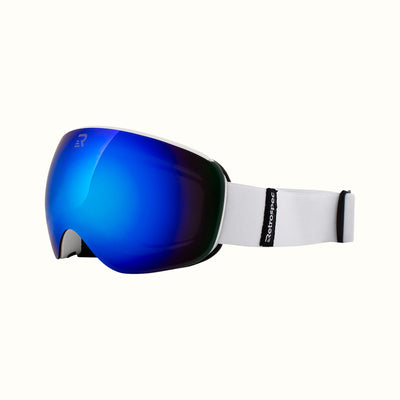 G4 Youth Snow Goggles | Matte Arctic and Topaz Revo