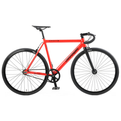 Drome V3 Track Urban Commuter Bike with Carbon Fork | Red