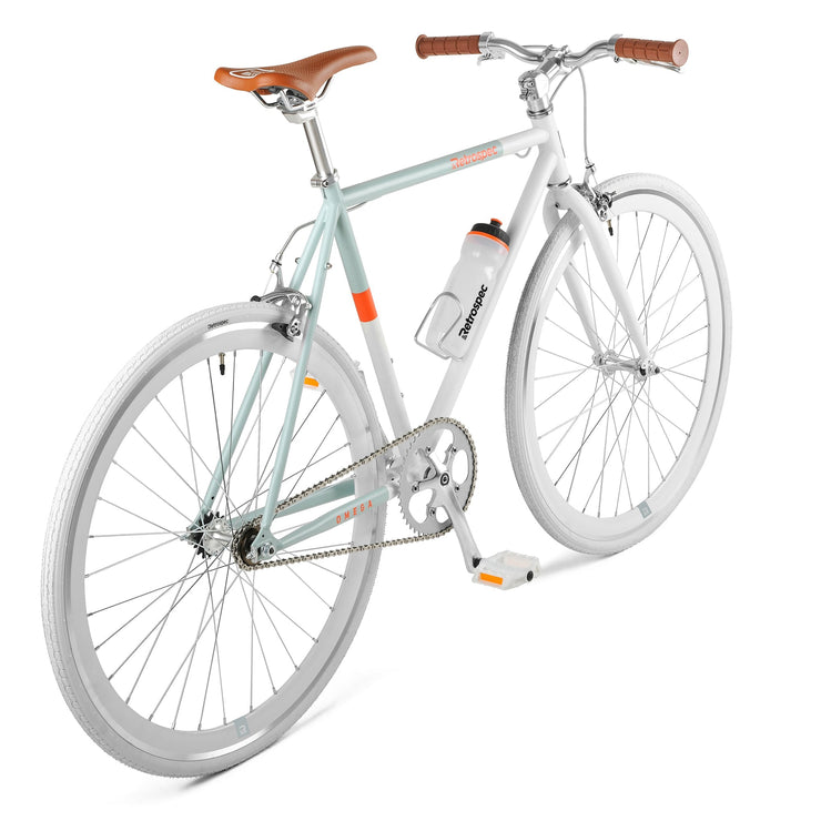 Omega Fixed-Gear / Single-Speed | White and Ice Blue
