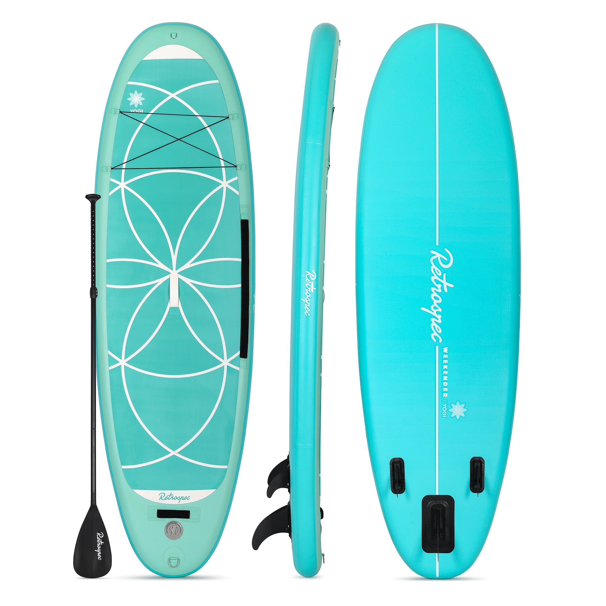 YOGI 10' Xtra Wide Inflatable Stand Up Paddleboard (SUP) | Seafoam