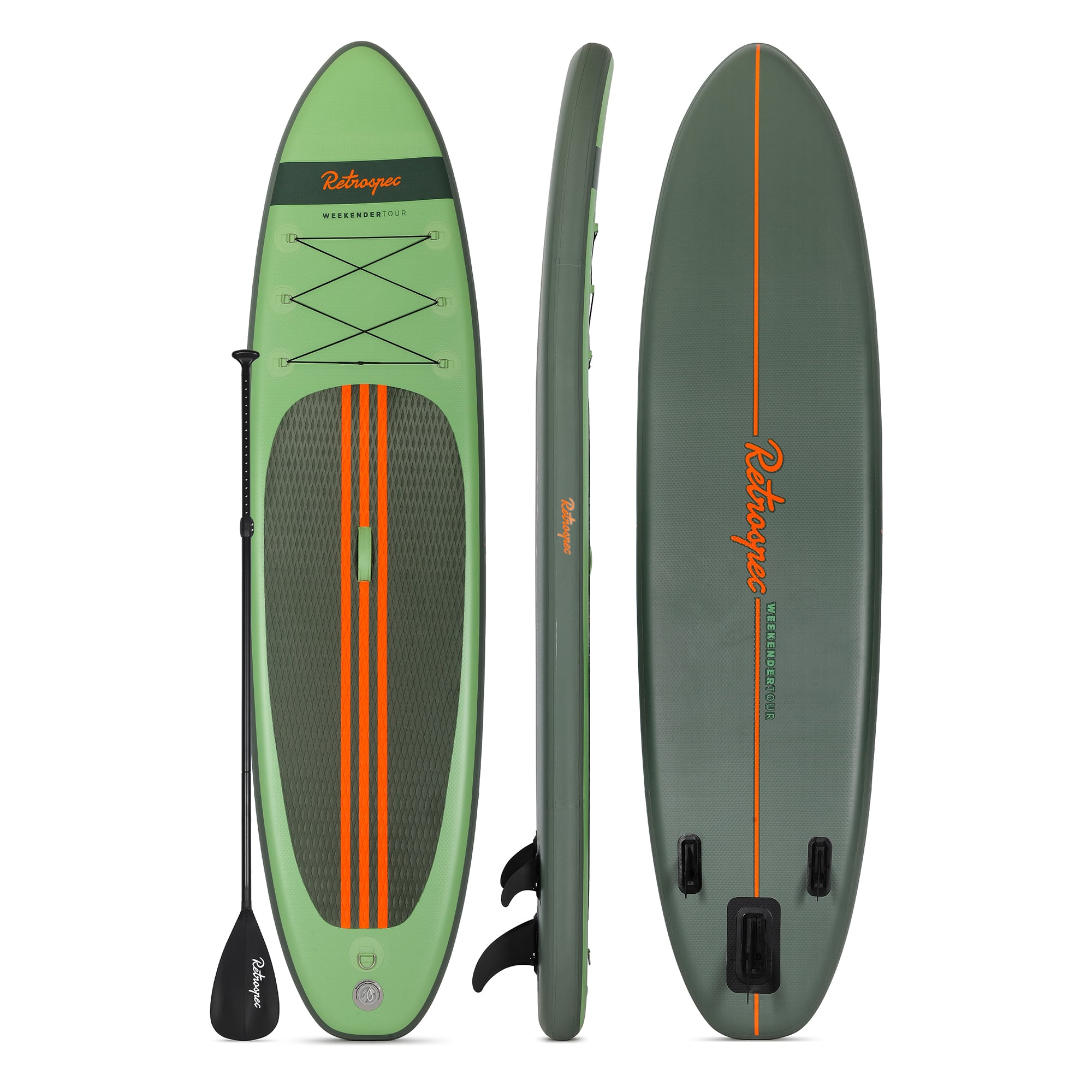 Weekender-Tour Inflatable Touring Standup Paddleboard | Forest Green