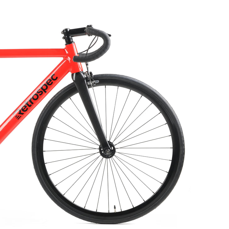 79ae9281559 Drome V3 Track Urban Commuter Bike with Carbon Fork | Red
