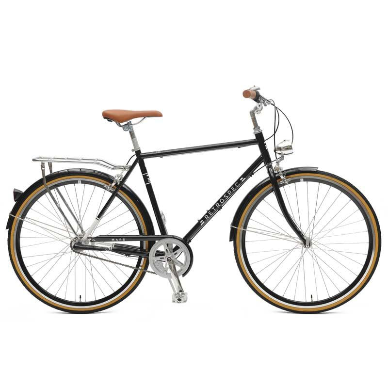 Black Retrospec Mars-3 Diamond Three-Speed City Bike - Westridge Outdoors