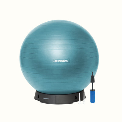 Luna Exercise Ball & Base | Ocean Blue