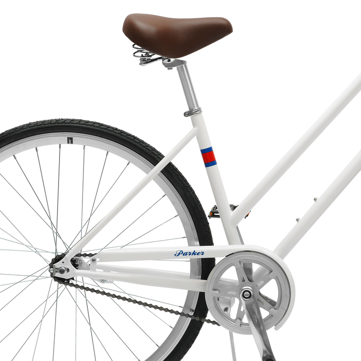 Critical Cycles Parker City Bike, 1-Speed Step-Thru w/ Coaster Brake | White