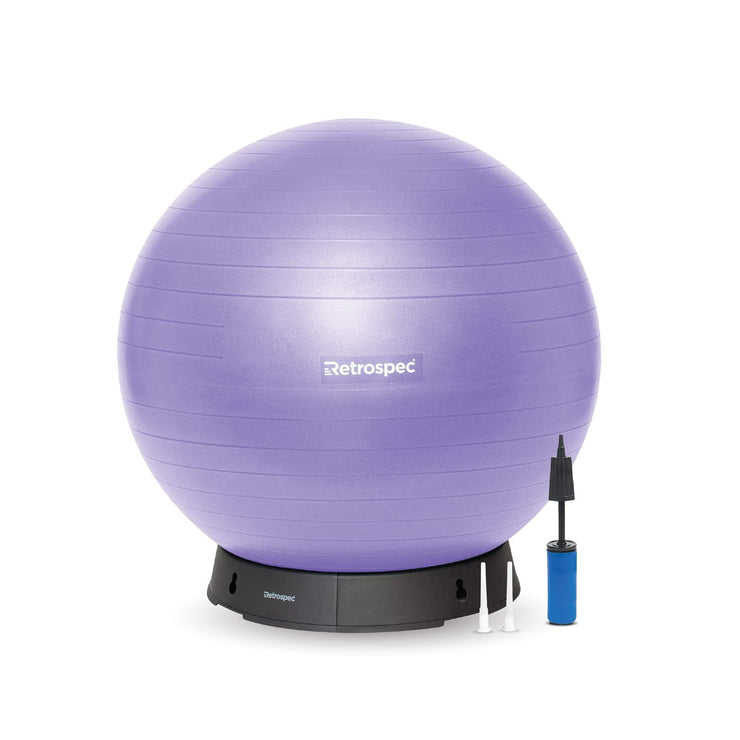 Luna Exercise Ball & Base | Ultraviolet