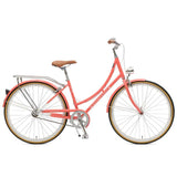 Retrospec Venus-1 Step-Thru Single-Speed City Bike | Coral