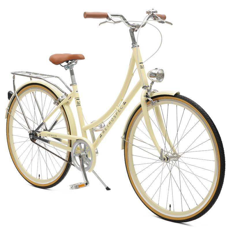 Retrospec Venus-1 Step-Thru Single-Speed City Bike | Cream