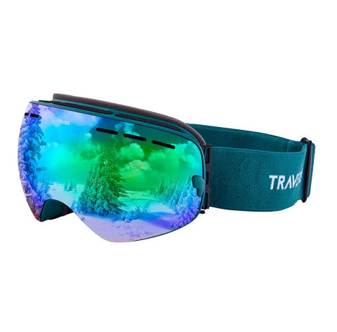 Traverse Virgata Goggles | Emerald and Jade REVO Green