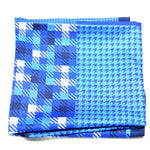 KEWVE - Blue Geometric print Pocket Square