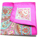 KEFE - Fuschia Pink Paisley Pocket Square