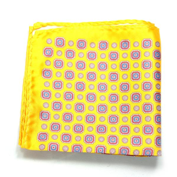 RUTE - Mustard Yellow Paisley Pocket Square