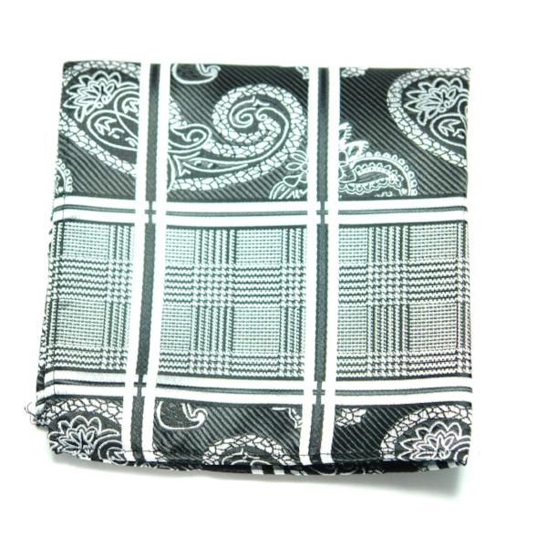 ELO - Paisley & Check Print Pocket Square
