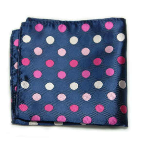 ENITA - Men's Silk Polka Dot Pocket Square
