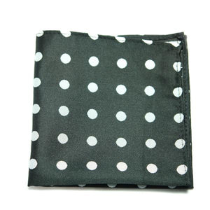 OME - Blue and White Polka Dot Pocket Square - Cy's Topshelf