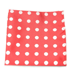 OME - Blue and White Polka Dot Pocket Square