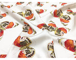 MINE- Golden Butterfly Print Silk Pocket Square
