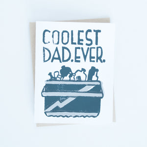 Father's Day Cooler Block Printed Card