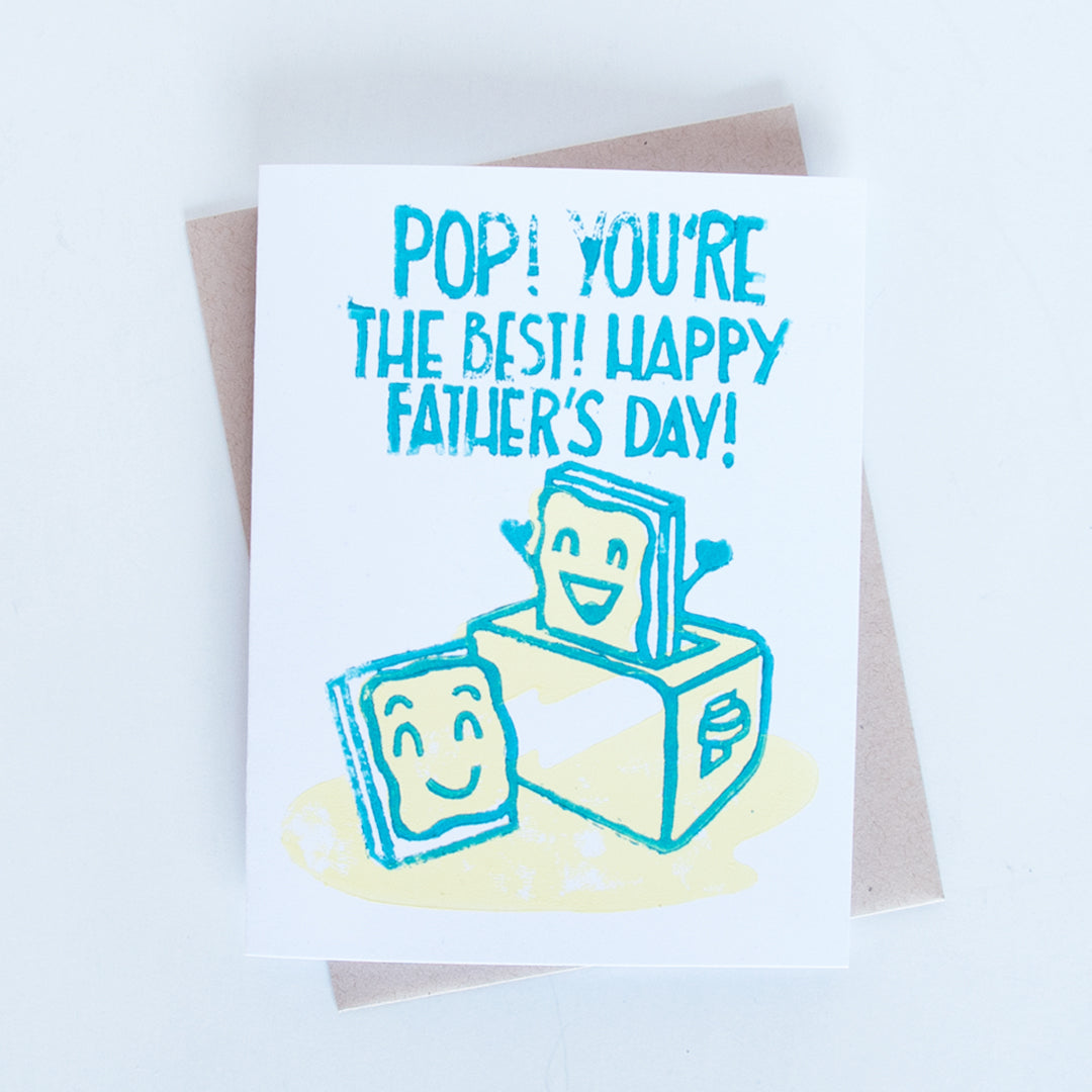 Pop Tart Father's Day Block Printed Card