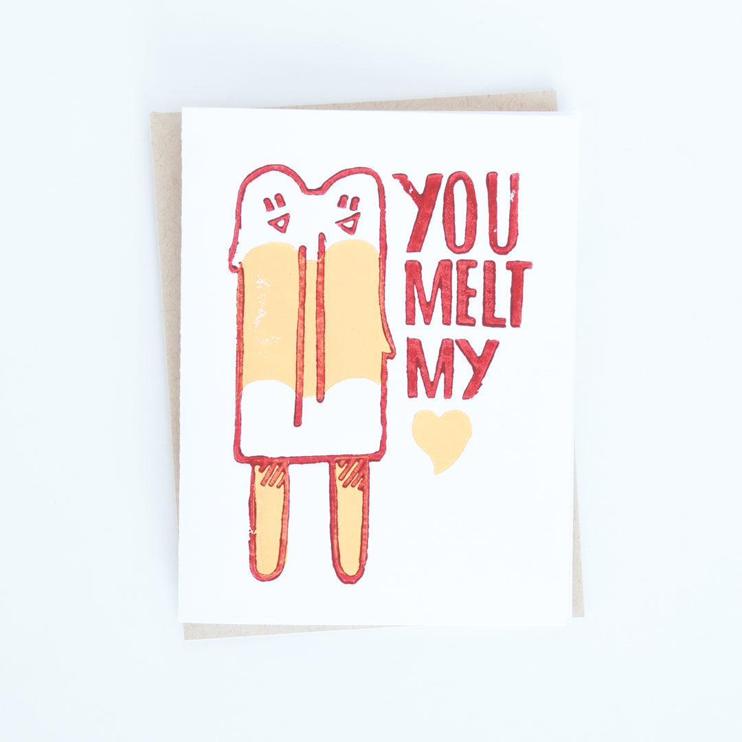 You Melt My Heart Popsicle Card